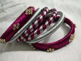 Hand made silk thread bangles