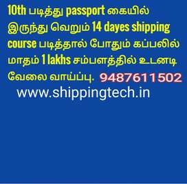 Wanted workers for shipping 14 dayes course and shipping job