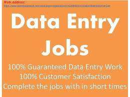 work form home based data entry