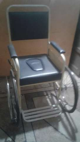 New Non Folding Wheel Chair with camode. Delivery Available