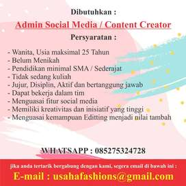 Admin Social Media / Content Creator
