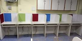 Colour ful modular workstation furniture