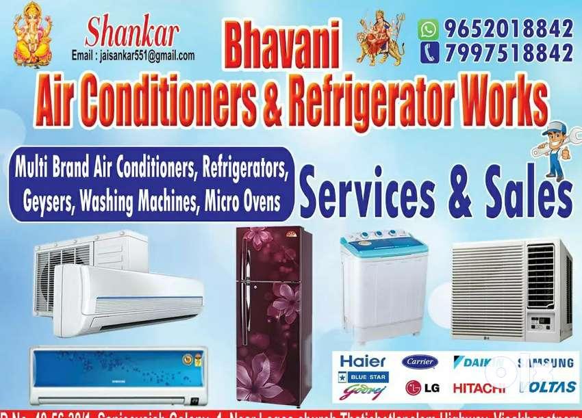 Ac/fridge repairs and services at ur door step servic