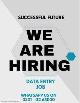 Data entry job for males & females both