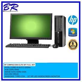 hp SET i5 *3d gen *22inch lcd *4gb ram *500gb hdd in GOOD condition