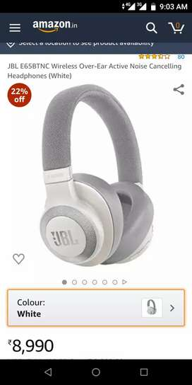 JBL E65BTNC Wireless Over Ear Headphones