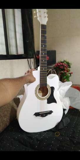 Juarez pure acoustic guitar- complete white