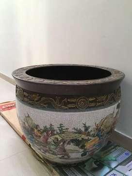 Jual keramik guci naga besar