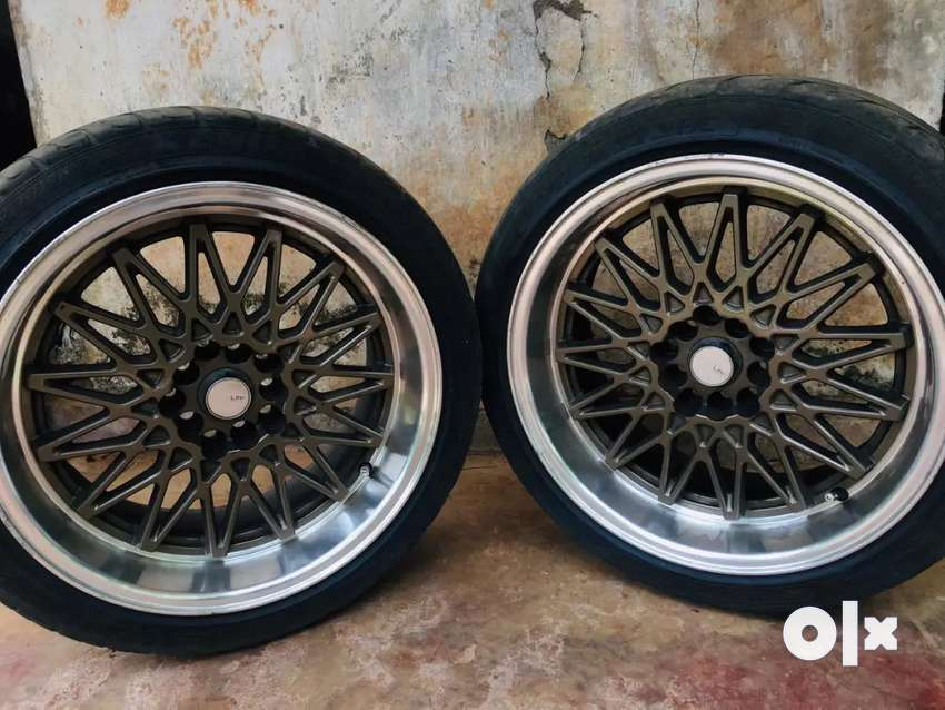 17 inch dish alloy wheels with tyres for sale