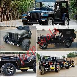 Open Modified Jypsy Jeep  & Thar Jeeps