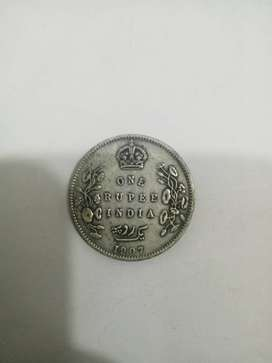 Old coin of time of Britishers in India