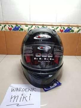 Helm Cargloss Racer Horn Helm Full Face Deep Black ALL SIZE BNIB