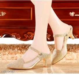 Sandal sepatu high heels wedges wanita