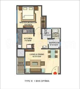 1bhk flat at lowest prize 34 lacs =3 lacs discount