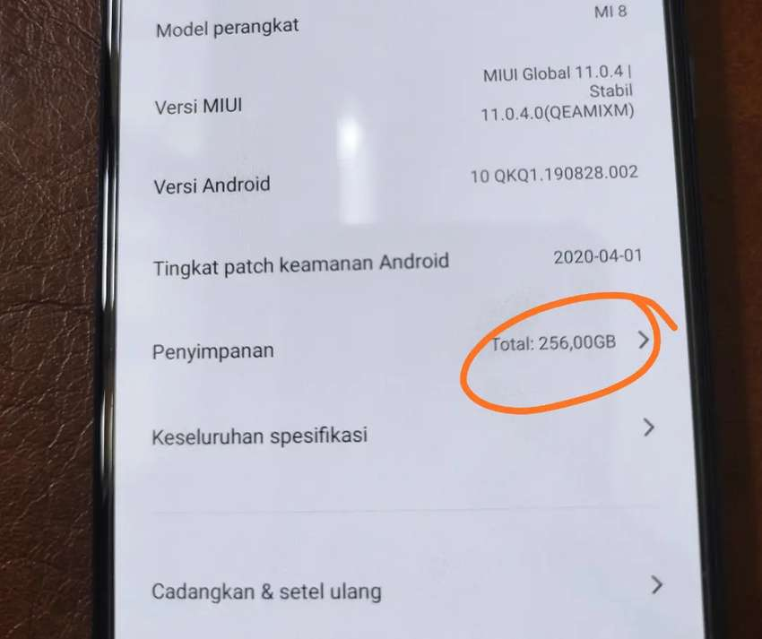 Xiaomi mi8 / mi 8 Biru 256gb rare 0