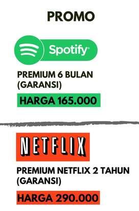 Jual spotify dan netflix Premium