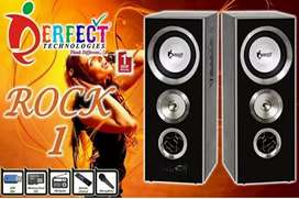 Perfect Rock Tower Speakers set Blutooth FM Radeo Aux cabel Mic Suport