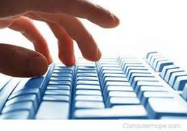 Data entry job ,work office, typing etc