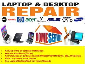 Services at your Home-Laptops & Computer Software & Upgrade@99Rs
