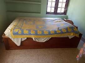 Teak Bed , box model medium size