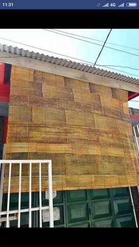 Kayu motif, tikar rotan, Tirai Rotan, Tirai kayu