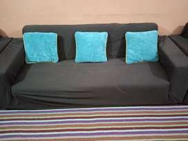 10 seater sofa cover in brown color