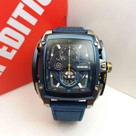 JAM TANGAN PRIA EXPEDITION 3008 E3008 BLUE BLACK KANVAS ORIGINAL