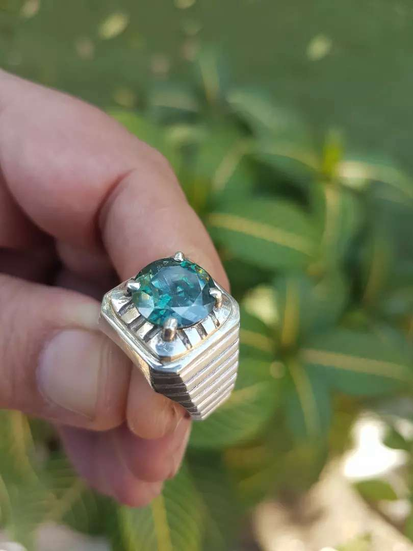 Mossanite Diamond in Royal siver ring 0
