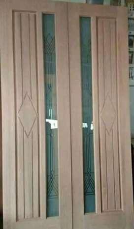 Daun pintu,bahan kayu temesu