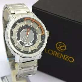 jam tangan lorenzo ori unique set lengkap bergaransi
