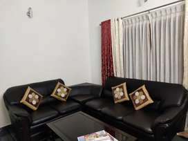 6 seater sofa set with corner table and cushion