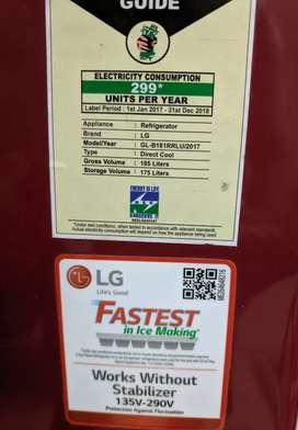 LG 185 ltrs fridge  Excellent condition