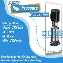 Mesin Steam High Pressure LX 2-220 untuk 3 selang DNS hidrolik mobil
