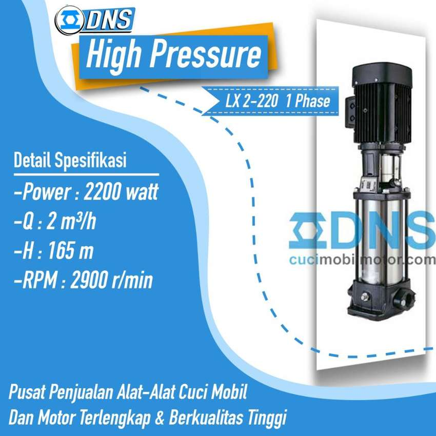 Mesin Steam High Pressure LX 2-220 untuk 3 selang DNS hidrolik mobil 0