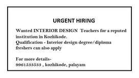 INTERIOR DESIGN TEACHERS FOR INSTITUTION