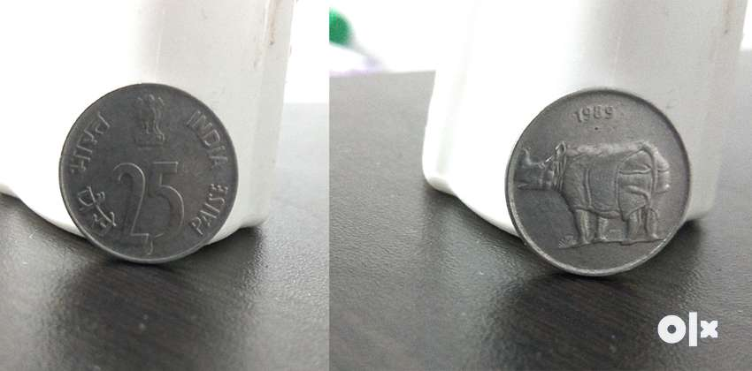 25 Paisa Coin from Year 1989