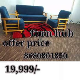 2255 sofa set 3+1+1 own manufacturing at offer sale