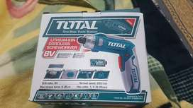 Total Cordless screwdriver (battery operated) and drill machine