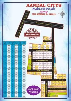 Plot for sale Thanjavur to pudhukottai road
