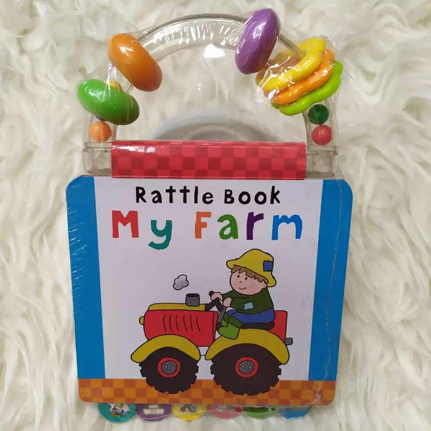 Rattle Book My Farm Buku Batita Unik Plus Mainan 0