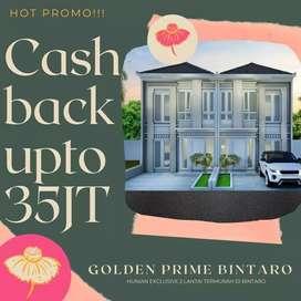 Golden prime bintaro, Rumah mewah 600JTan, FREE AC/Kanopi