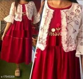 New designer kurta with jacket for women