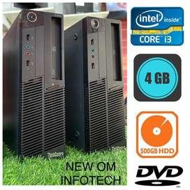 i3 CPU / LENOVO BRAND / 4GB RAM / 500GB HDD / WARRANTY ALSO / CALL NOW