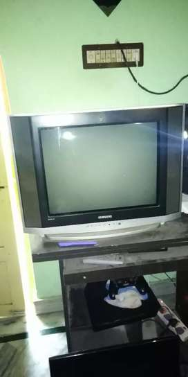 Colour tv and DTH dish