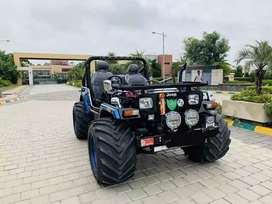 Election Campaign Modified Open Jeep