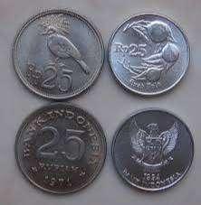 Jual Uang Koin Kuno 25 Rupiah