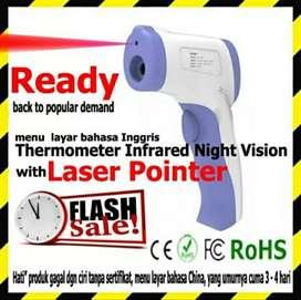 Thermometer infrared digital ada sinar laser nya lebih akurat