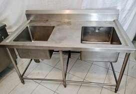 Double sink stainless / tempat cuci piring
