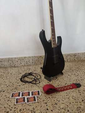 IbanezGRG121DX Electric Guitar, Laney LX20R, Zoom G1ON MultiFX, Extras