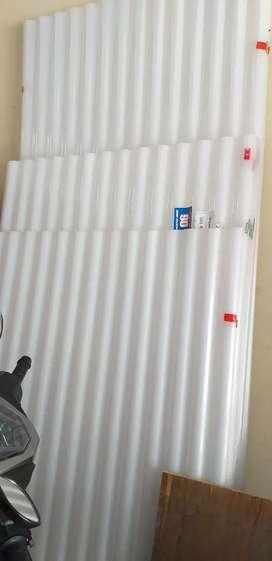 Atap plastik putih susu, hrg/m